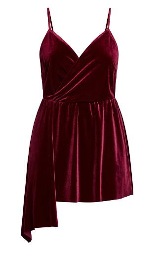 Velvet Love Top - ruby