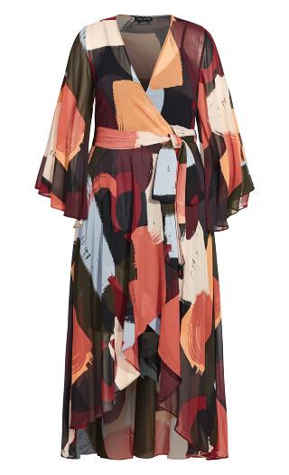 Swish Maxi Dress - black