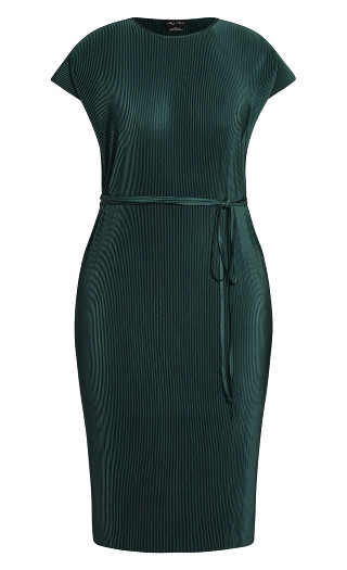 Baby Pleat Dress - sea green