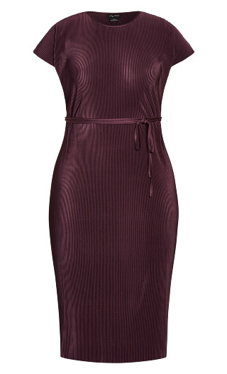 Baby Pleat Dress - plum