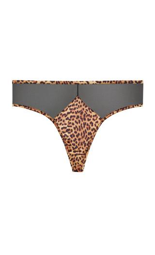 Slinky Thong - leopard
