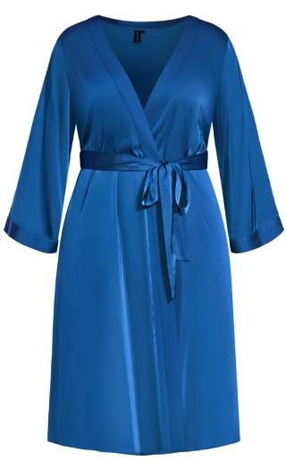 Slinky Midi Robe - french blue