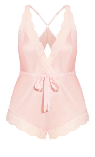 Slinky Romper - soft pink