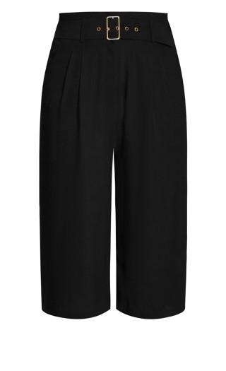 Easy Crop Pant - black