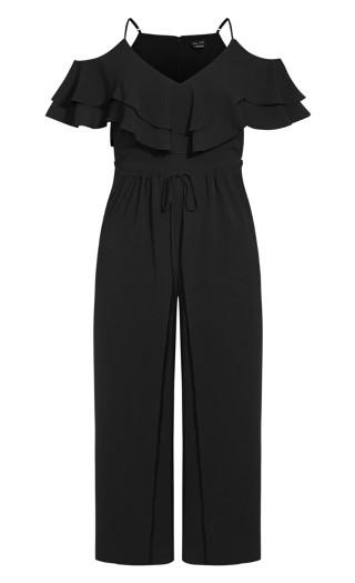 Split Front Jumpsuit - black