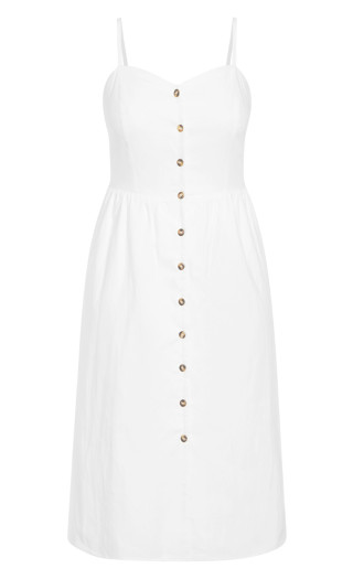 Button Baby Dress - ivory