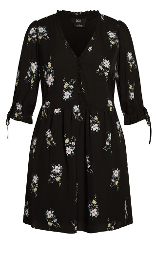 Sweet Posy Dress - black