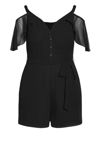Cherish Playsuit - black