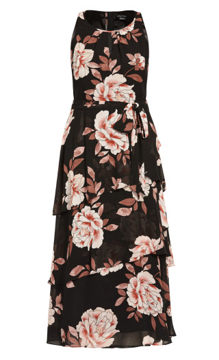 Imperial Bloom Maxi Dress - black