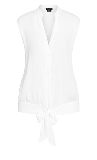 Simple Knot Shirt - ivory