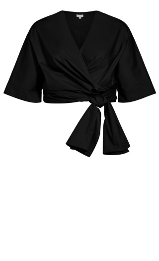 All Wrapped Jacket - black