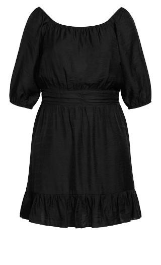 Mini Flirt Dress - black