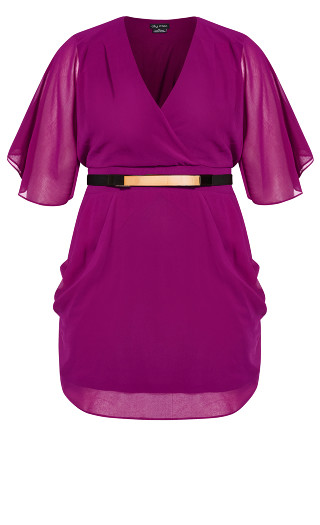 Colour Wrap Dress - magenta