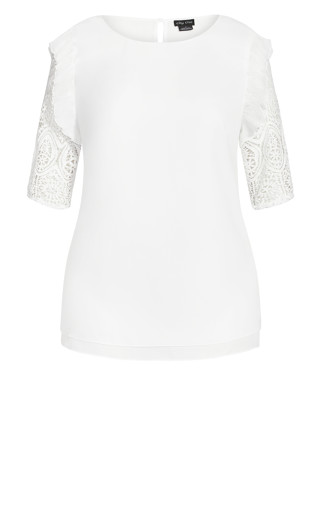 Lace Breeze Top - ivory