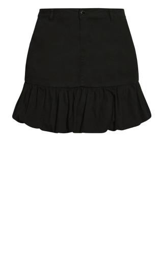 Balloon Hem Skirt - black