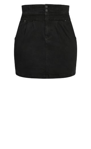 Denim Love Skirt - black