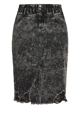 Sky High Skirt - black wash