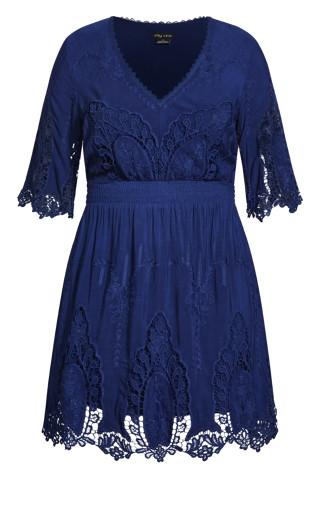 Lust Crochet Dress - sapphire