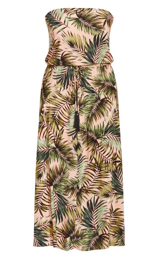 Miami Palm Maxi Dress