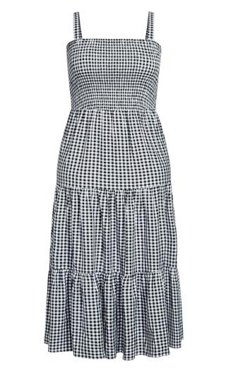 Gingham Maxi Dress - gingham