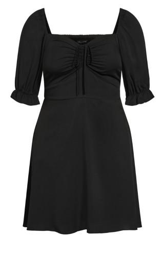 Puff Charm Dress - black