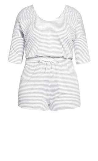Stripe Daze Playsuit - grey stripe