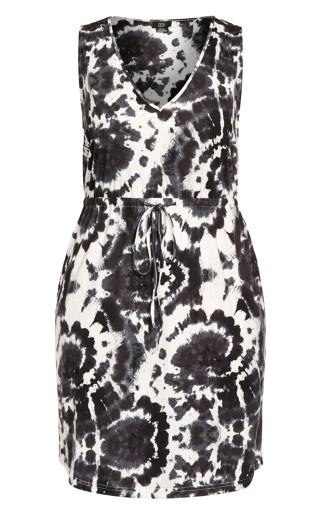 Moody Tie Dye Dress - black