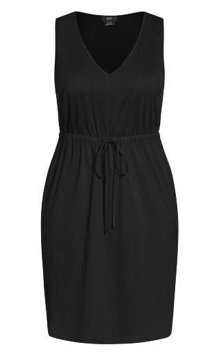 Tied Up Dress - black