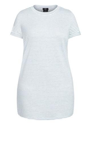 Stripe Lounge Dress - grey
