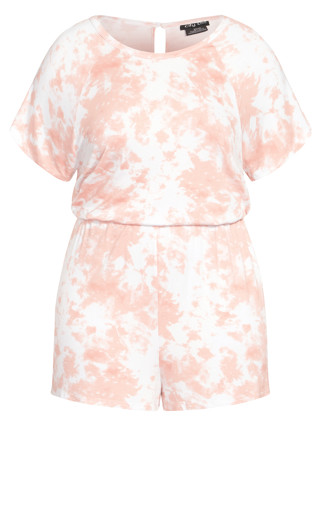 Luna Sleep Romper - rose