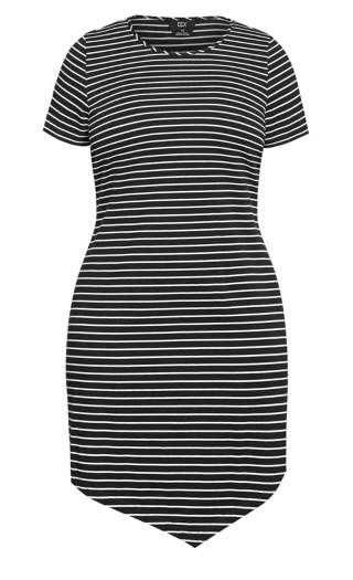 Laid Back Stripe Dress - black