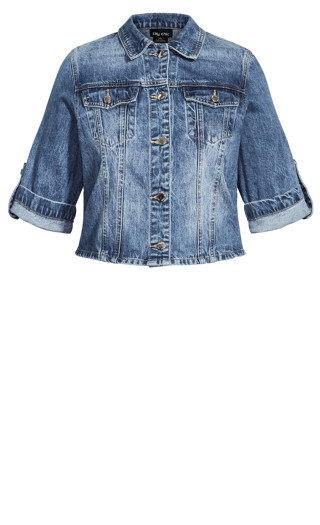 Denim Short Sleeve Jacket - light denim