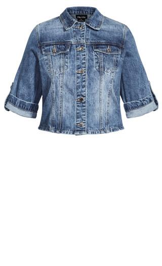 Denim Short Sleeve Jacket - light denim