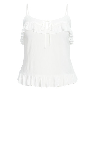 Sweetly Ruffled Top - ivory