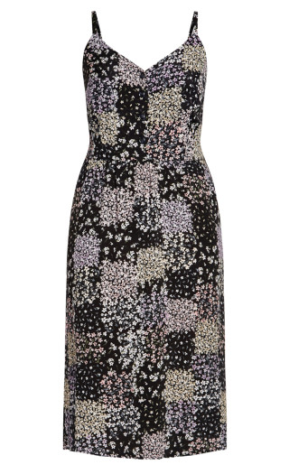 Spring Daisy Dress - black