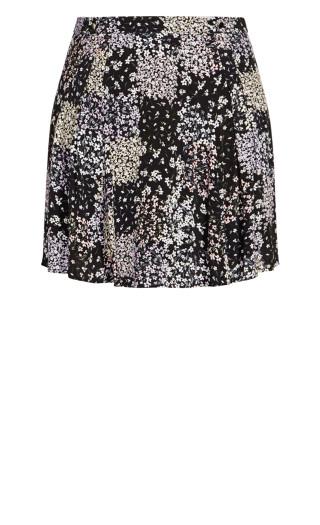 Spring Daisy Skirt - black