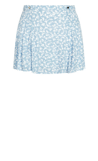 Floating Daisy Skirt - powder blue
