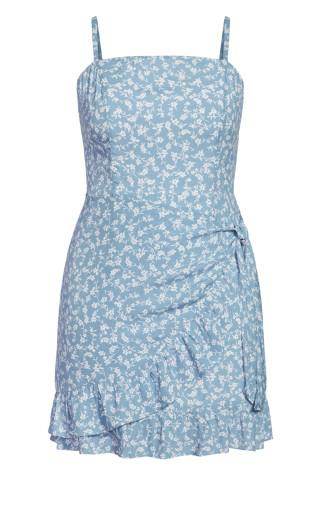 Floating Daisy Dress - powder blue