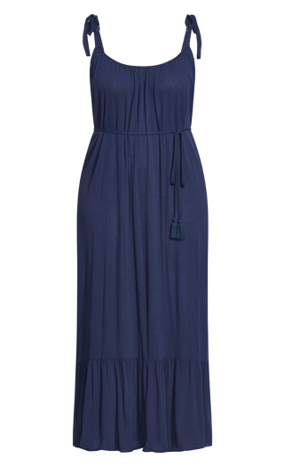 Tropical Escape Maxi Dress - navy
