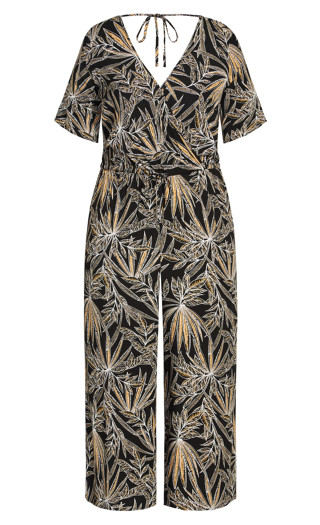 Etch Frond Jumpsuit - black