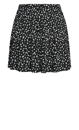 Mono Ditsy Skirt - black