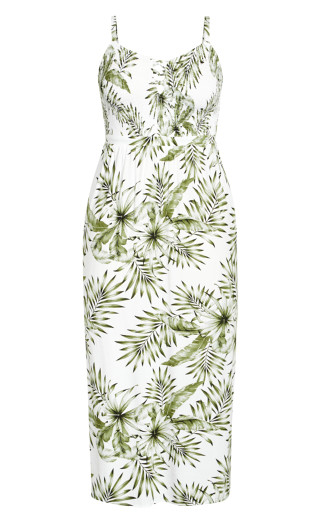 Sweet Palm Maxi Dress - ivory