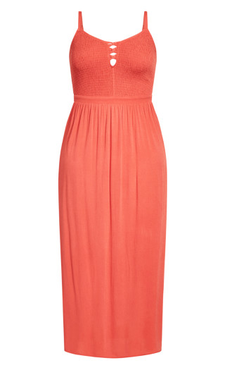 Riviera Maxi Dress - tangerine