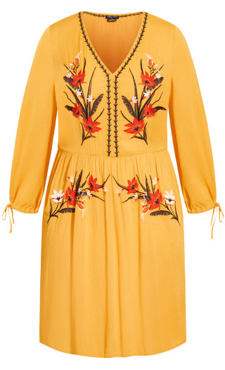 Sunshine Embroidered Dress - sunshine