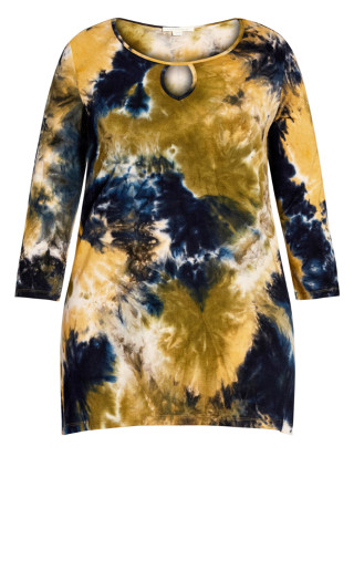 Tie Dye Cage Top - yellow