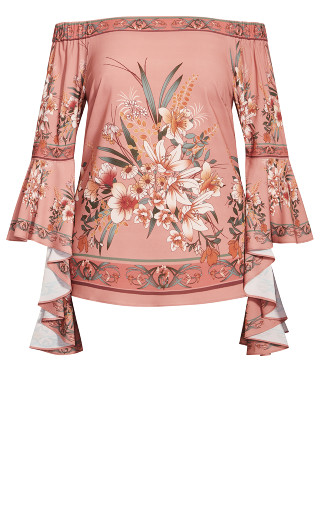Sweet Guava Floral Top - guava