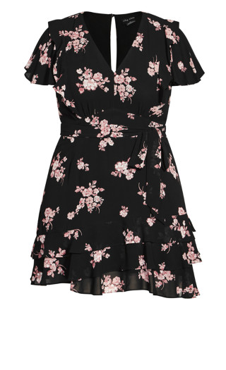 Romantic Sleeve Dress - black