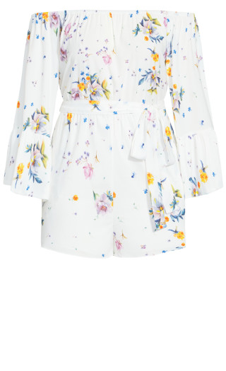 Summer Rose Playsuit - white