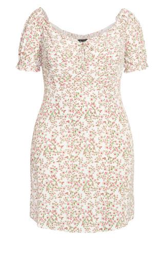 Pretty Vine Dress - white floral