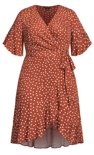 Lover Spot Dress - toffee